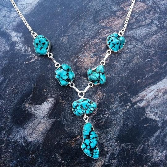 Handmade Turquoise sterling silver Bali style necklace