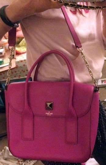 Kate Spade Pink Girly Satchel in fuchsia Image 3