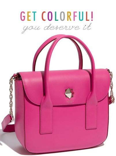 Kate Spade Pink Girly Satchel in fuchsia Image 7