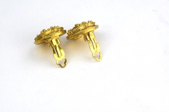 Chanel Chanel Unique CC Logo Small Round Clip-On Earrings.
