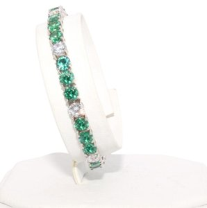 Other Round shape 5x5mm Brilliant cut Emerald simulant Bracelet