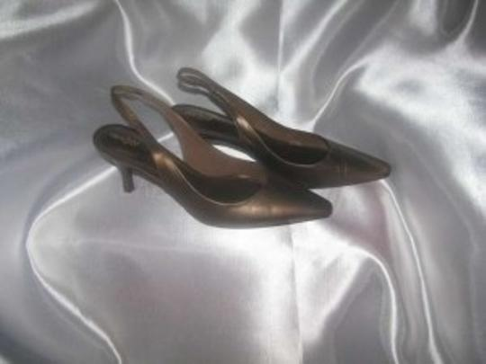 East 5th Essentials Bronze Leather Pumps