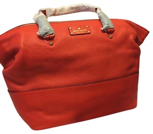 Kate Spade Satchel in Tomato red