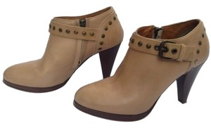 J.Crew Ankle Leather Platform Taupe Boots