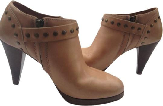 J.Crew Ankle Leather Platform Studded Taupe Boots