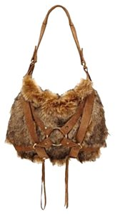 Lucky Brand Unique Contrast Suede Hobo Bag