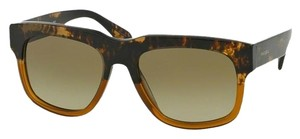 Prada NEW Prada SPR 14Q Flat Top Brown Ombre Sunglasses