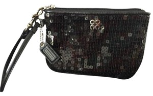 Coach Small Sequin Event Date Night Wristlet in Black