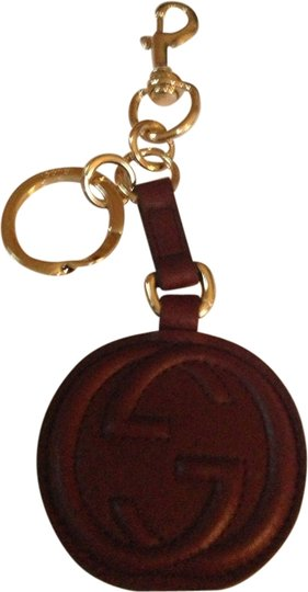 Gucci GUCCI AUTHENTIC NWT BROWN LEATHER KEYCHAIN