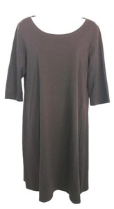 Eileen Fisher short dress Brown on Tradesy