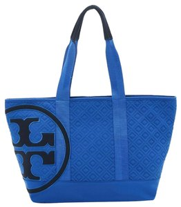 Tory Burch Blue Beach Bag