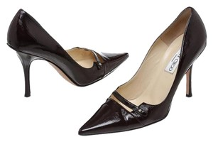 Jimmy Choo Dark Burgundy Pumps