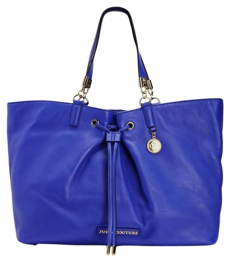 Juicy Couture Large Leather Tote in Bristol Bright Royal Blue