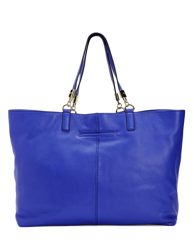 Juicy Couture Robertson Drawstring Bristol Bright Royal Blue Leather Tote Tradesy