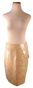 Carmen Marc Valvo Sequins Mini Skirt Blush