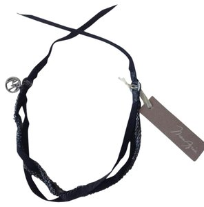 BCBGMAXAZRIA Black chain choker necklace
