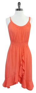 Rebecca Taylor short dress Coral Silk Sleeveless on Tradesy