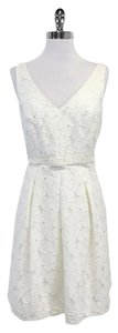 Trina Turk short dress White Floral Overlay on Tradesy