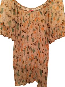 What Goes Around Comes Around Silk Top Peach multi