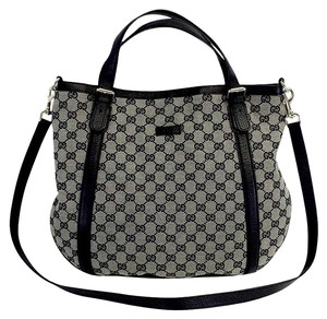 Gucci Convertible Black & Grey Shoulder Bag