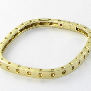 Roberto Coin Roberto Coin Single Row Pois Moi Bracelet 18k Yellow Gold
