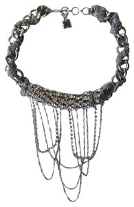 BCBGMAXAZRIA Chain Fringe Choker Necklace