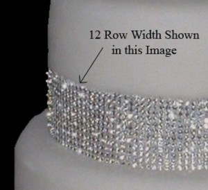 White/Clear 1-yard (Ft) Of Crystal Rhinestone Cake Banding Ss14 Crystals Reception Decoration