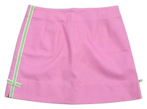 Lilly Pulitzer Pink & Green Cotton Mini Skirt