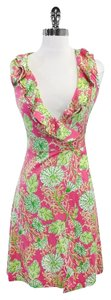 Lilly Pulitzer short dress Pink & Green Floral Wrap on Tradesy