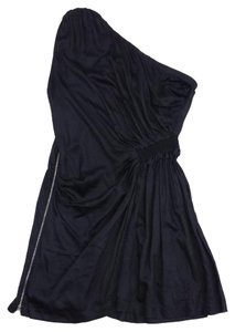 IRO short dress Black One Shoulder Side on Tradesy