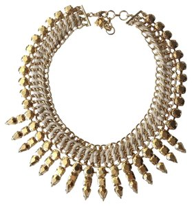 BCBGMAXAZRIA Gold Color Collar Necklace