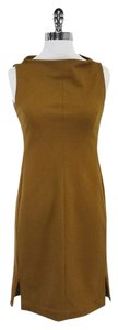 Diane von Furstenberg short dress Brown Wool Sleeveless on Tradesy