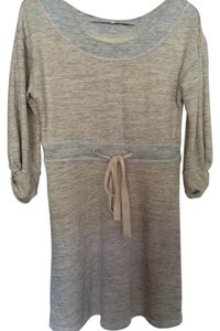 Anthropologie short dress Beige/ gray Sweater Hand Wash Cold on Tradesy