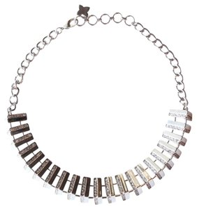 BCBGMAXAZRIA White Gold Colored Collar Necklace
