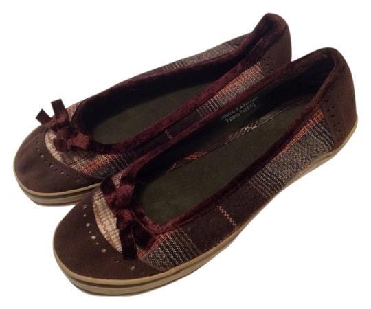 Xhilaration Multi Color Brown Flats