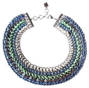 BCBGMAXAZRIA Collared cluster necklace