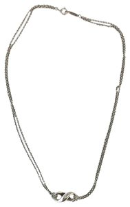 Tiffany & Co. Silver Double Chain Infinity Necklace