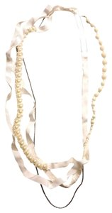 BCBGMAXAZRIA Faux Pearl White Necklace