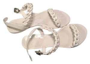 Givenchy Jelly Sandals Blanco White Flats