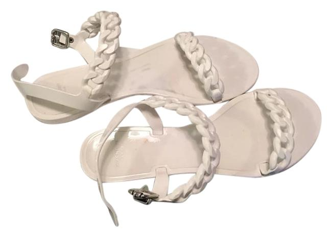 Item - White Jelly Sandals Flats Size US 11