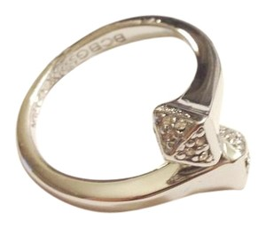 BCBGMAXAZRIA White Gold Faux Diamond Ring