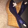 Tory Burch Navy Wedges Image 3