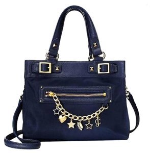 Juicy Couture Hardware: Gold Tone Satchel in Royal Blue