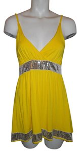 Dolce&Gabbana Sequin Top yellow & silver