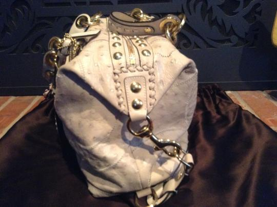 Coach Ostrich Leather Luxury Exotic High-end Rare Satchel in Parchment