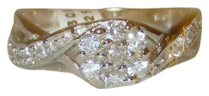 Other Genuine Sterling Silver Round Cut Genuine Zirconia Crossover CZ Accent Band Size 5 6 7 8 9 10