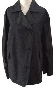 Peter O Mahler Polyester Navy Rainjacket Chic Raincoat
