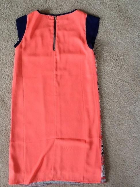 Other short dress Navy/Coral Tribal Shift Coral Zipper on Tradesy