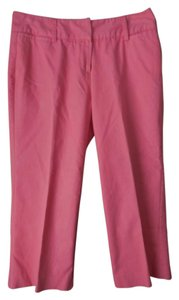 Larry Levine Comfortable Casual Cotton Blend Pockets Belt Loops Capris Coral