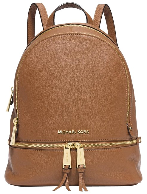 Item - New Rhea Small Acorn/Gold Leather Backpack